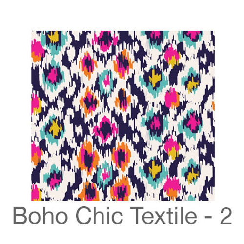 """12""""x12"""" Permanent Patterned Vinyl - Boho Chic Textile 2"""