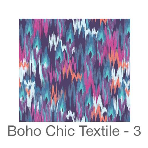"""12""""x12"""" Permanent Patterned Vinyl - Boho Chic Textile 3"""