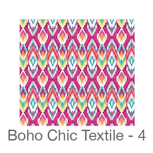 """12""""x12"""" Permanent Patterned Vinyl - Boho Chic Textile 4"""