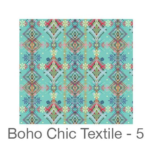"""12""""x12"""" Permanent Patterned Vinyl - Boho Chic Textile 5"""
