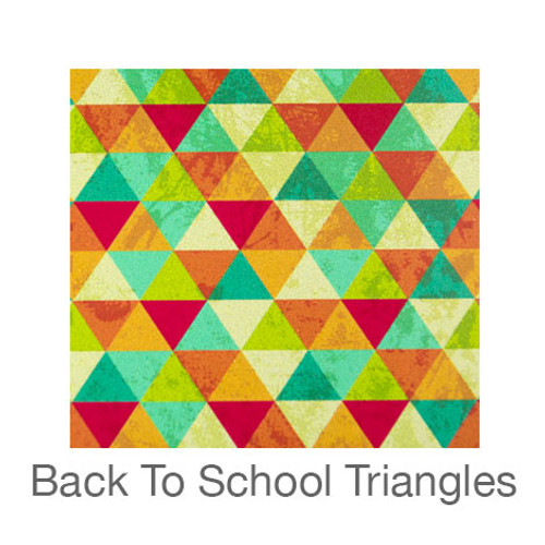 """12""""x12"""" Permanent Patterned Vinyl - Back To School Triangles"""