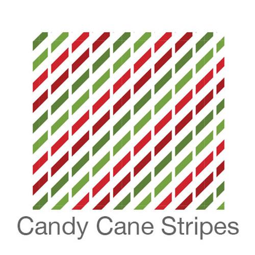 """12""""x12"""" Patterned HTV - Candy Cane Stripes"""