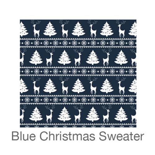 "12""x12"" Permanent Patterned Vinyl - Blue Christmas Sweater"