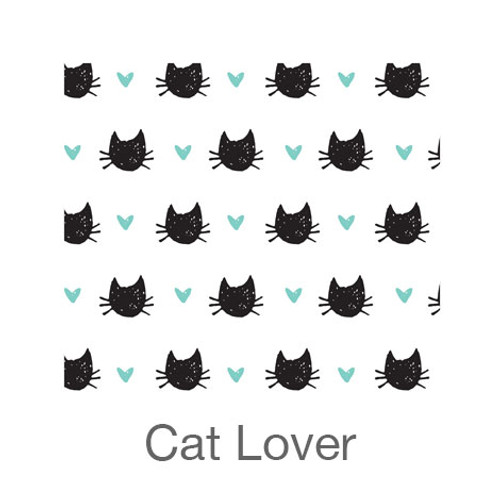 "12""x12"" Permanent Patterned Vinyl - Cat Lover"