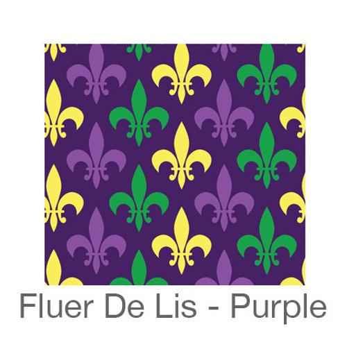 """12""""x12"""" Patterned HTV - Purple Fleur-de-lis"""