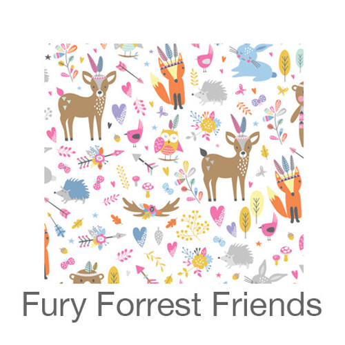 """12""""x12"""" Permanent Patterned Vinyl - Furry Forest Friends"""