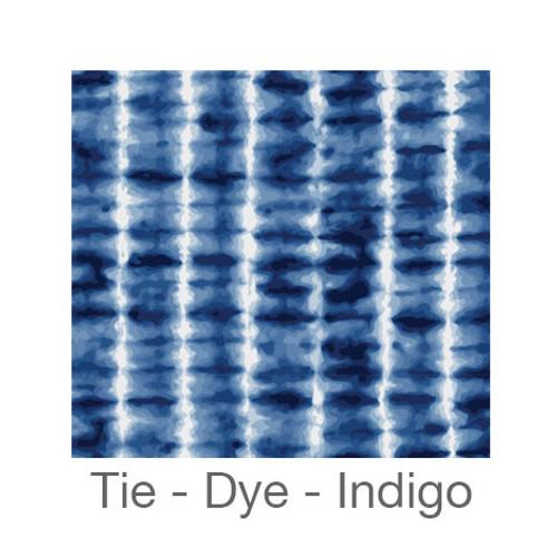 "12""x12"" Permanent Patterned Vinyl - Tie-Dye - Indigo"