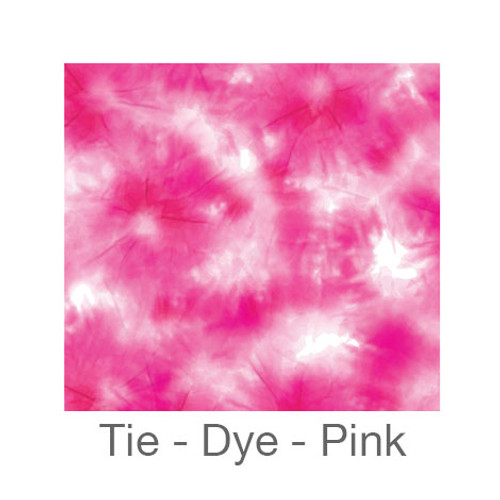 "12""x12"" Permanent Patterned Vinyl - Tie-Dye - Pink"