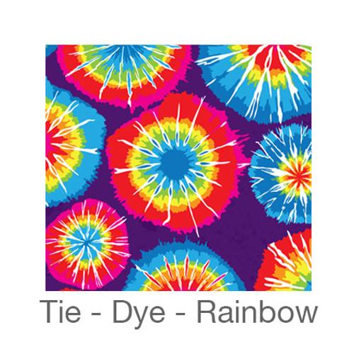 "12""x12"" Permanent Patterned Vinyl - Tie-Dye - Rainbow"