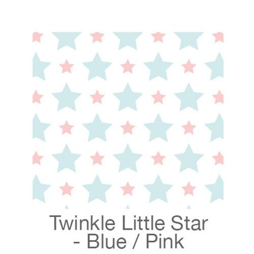 "12""x12"" Permanent Patterned Vinyl - Twinkle Little Star - Blue/Pink"