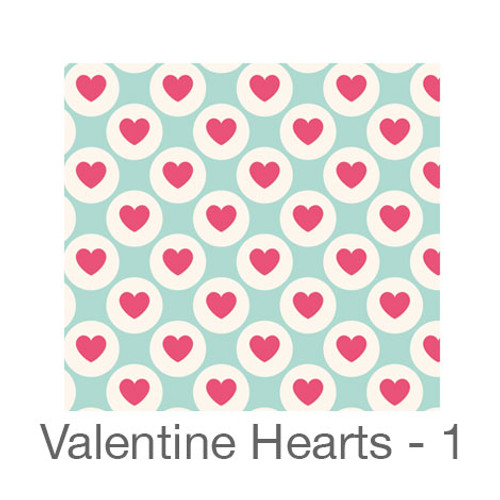 "12""x12"" Permanent Patterned Vinyl - Valentine's Hearts 1"