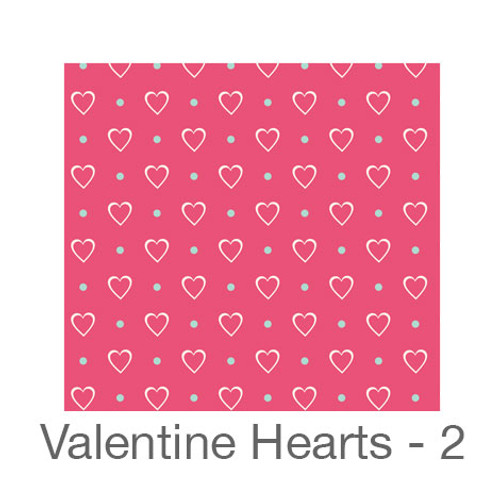 "12""x12"" Permanent Patterned Vinyl - Valentine's Hearts 2"