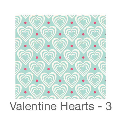"12""x12"" Permanent Patterned Vinyl - Valentine's Hearts 3"