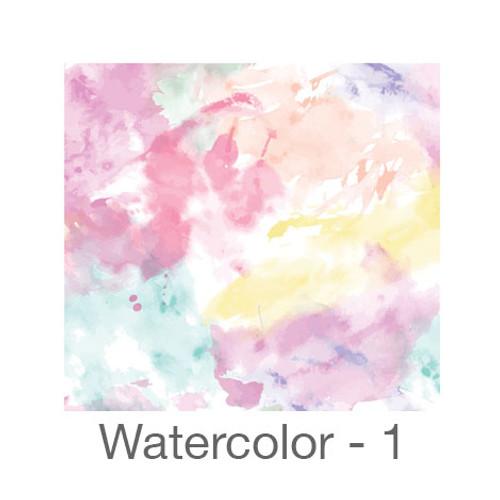 "12""x12"" Permanent Patterned Vinyl - Watercolor 1"