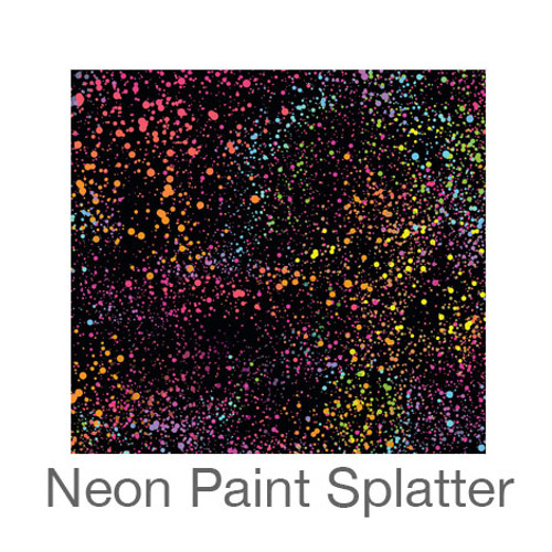 """12""""x12"""" Patterned HTV - Neon Paint Splatter"""