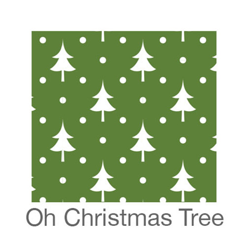 """12""""x12"""" Patterned HTV - Oh Christmas Tree"""