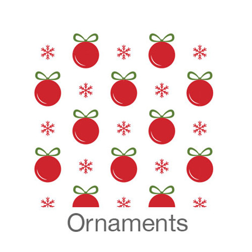 """12""""x12"""" Patterned HTV - Ornaments"""
