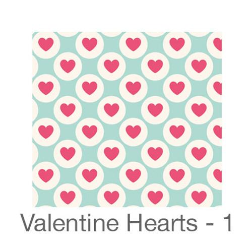 """12""""x12"""" Patterned HTV - Valentine Hearts 1"""