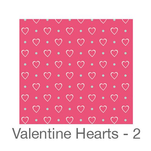 """12""""x12"""" Patterned HTV - Valentine Hearts 2"""
