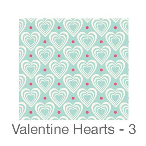 """12""""x12"""" Patterned HTV - Valentine Hearts 3"""