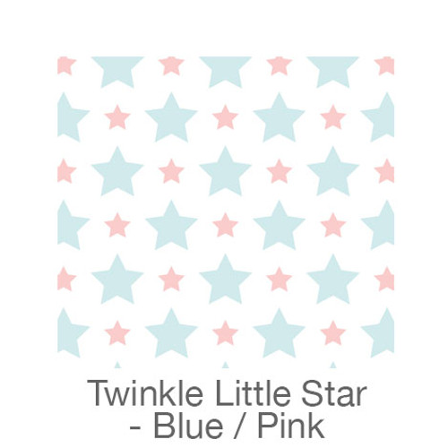 "12""x12"" Patterned HTV - Twinkle Little Star - Blue/Pink"