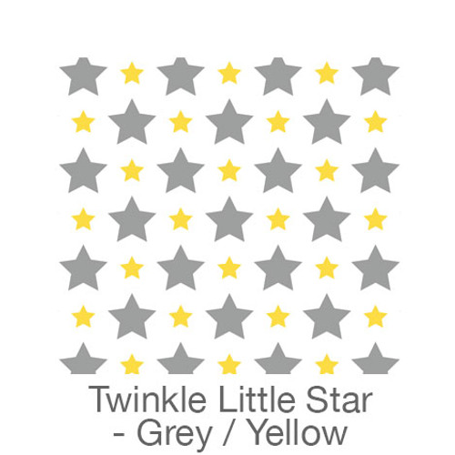 """12""""x12"""" Patterned HTV - Twinkle Little Star - Grey/Yellow"""