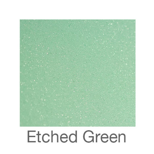 """Etched Glass - 12""""x12"""" - Green"""