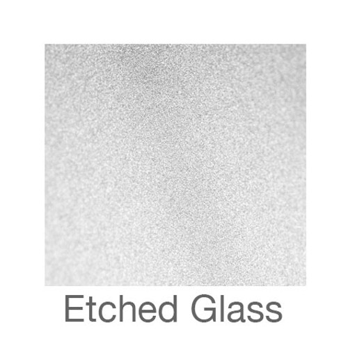 """Etched Glass - 12""""x24"""" - Silver"""