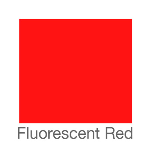 "Fluorescent Adhesive Vinyl -12""x12""- Red"