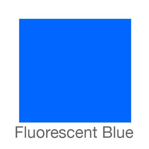"Fluorescent Adhesive Vinyl -12""x24""- Blue"