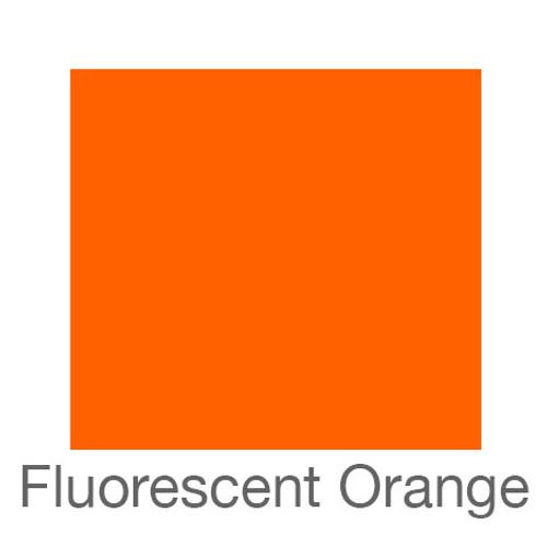 """Fluorescent Adhesive Vinyl -12""""x24""""- Orange"""