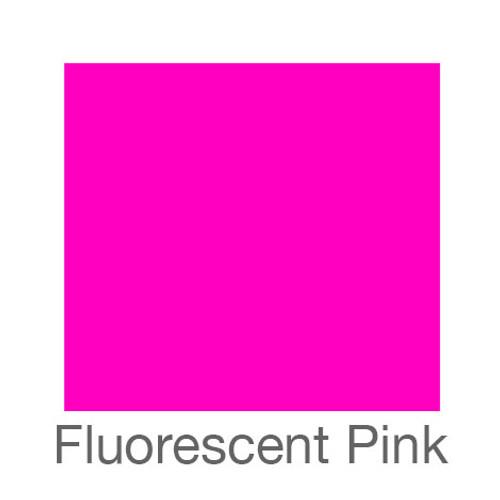 "Fluorescent Adhesive Vinyl -12""x24""- Pink"