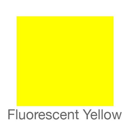 """Fluorescent Adhesive Vinyl -12""""x24""""- Yellow"""