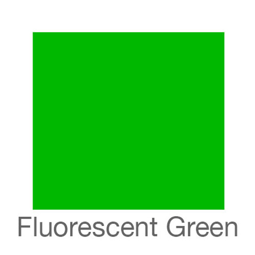 "Fluorescent Adhesive Vinyl -12""x5ft. Roll- Green"