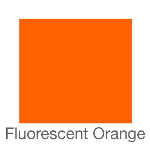 "Fluorescent Adhesive Vinyl -12""x5ft. Roll- Orange"