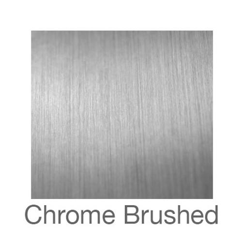"Metalized Adhesive Vinyl -12""x12""- Brushed Chrome"
