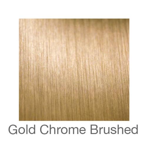 "Metalized Adhesive Vinyl -12""x12""- Brushed Gold Chrome"