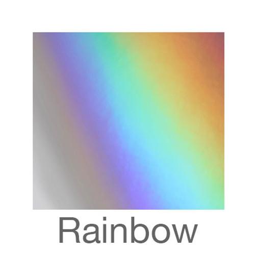 """Metalized Adhesive Vinyl -12""""x12""""- Rainbow"""