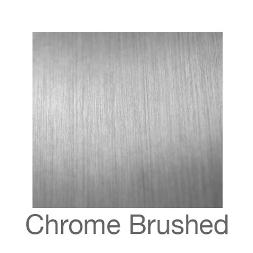 """Metalized Adhesive Vinyl -12""""x5ft. Roll- Brushed Chrome"""