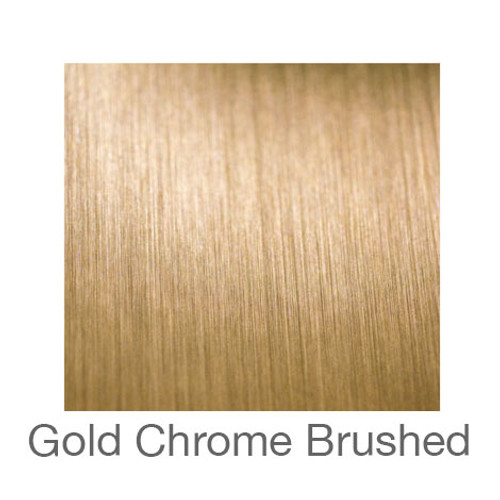 """Metalized Adhesive Vinyl -12""""x5ft. Roll- Brushed Gold Chrome"""