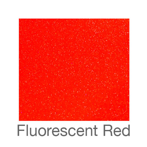 "Adhesive Glitter -12""x12""- Fluorescent Red"