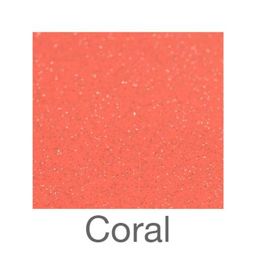 "Adhesive Glitter -12""x24""- Coral"