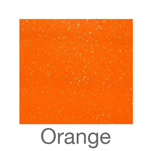 "Adhesive Glitter -12""x24""- Orange"