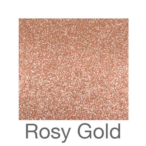 "Adhesive Glitter -12""x24""- Rosy Gold"