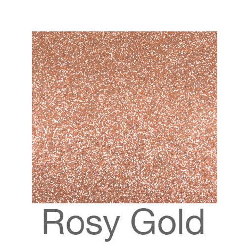 "Adhesive Glitter -12""x5yd. Roll- Rosy Gold"