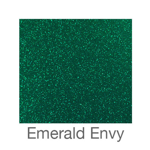 "Glitter Adhesive Vinyl-12""x12""-Emerald Envy"