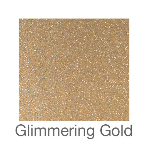 "Glitter Adhesive Vinyl-12""x12""-Glimmering Gold"