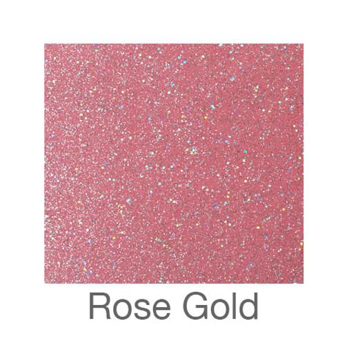 "Glitter Adhesive Vinyl-12""x12""-Rose Gold"