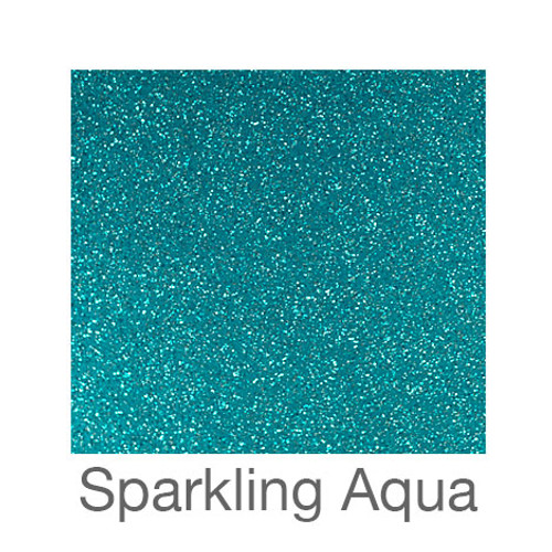 "Glitter Adhesive Vinyl-12""x12""-Sparkling Aqua"