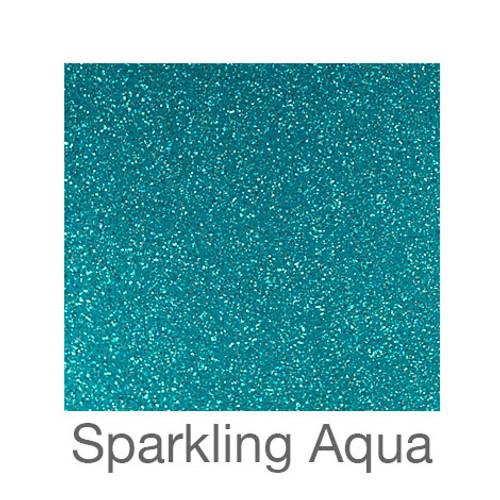"Glitter Adhesive Vinyl-12""x24""-Sparkling Aqua"